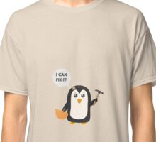 Construction worker Penguin   Classic T-Shirt
