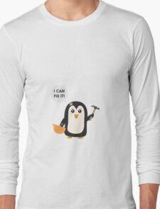 Construction worker Penguin   Long Sleeve T-Shirt