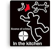 Crime scene Canvas Print