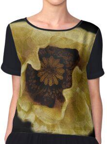 Flower pillows & Art-  Golden poppy- for Virginia Chiffon Top