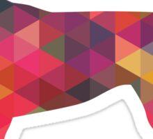 English Foxhound - Colorful Geometric Pattern Silhouette - Multi Sticker