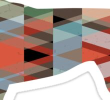 English Foxhound - Colorful Geometric Pattern Silhouette - Plaid Sticker