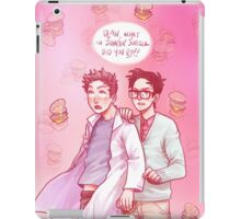 cloudy with a chance of uh-oh iPad Case/Skin