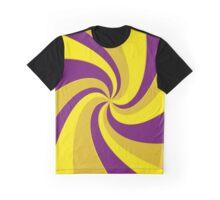 Purple and yellow twist Graphic T-Shirt