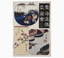 Nihonbashi Sinagawa Kawasaki - Hiroshige Ando - 1848 - woodcut Baby Tee