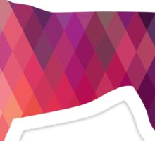 English Foxhound - Colorful Geometric Pattern Silhouette - Pink Sticker