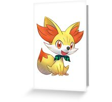 Fennekin from Pokemon Greeting Card