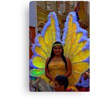 Riding In The Pase Del Nino Parade Canvas Print