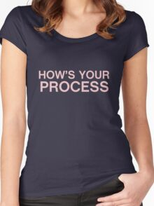 How's your process? Women's Fitted Scoop T-Shirt
