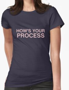 How's your process? Womens Fitted T-Shirt