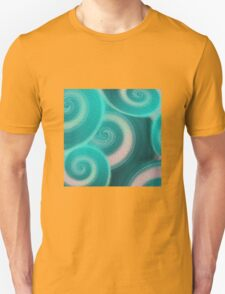 Abstract Teal Ocean Waves Unisex T-Shirt