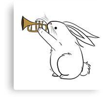 Horn Bunny Canvas Print