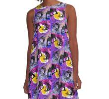 Moon egg and owls A-Line Dress