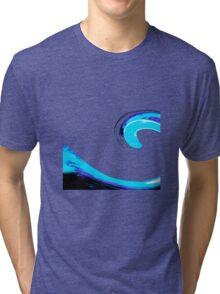 Blue Black Purple Wave Tri-blend T-Shirt