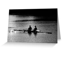"""The Scullers"" Greeting Card"