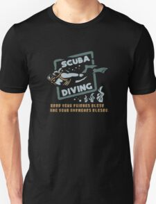 Scuba Diving Funny Logo Unisex T-Shirt