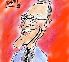David Letterman Caricature by brennanartist