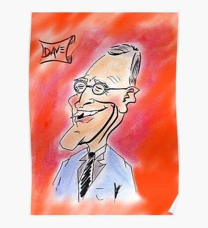 David Letterman Caricature Poster