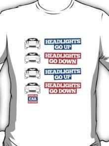 """Headlights Go Up/Down"" Miata MX-5 T-Shirt"