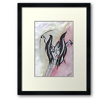 The Devil  Shoots Flaming Arrows Framed Print