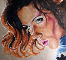 Black Widow Portrait by melissajaneart