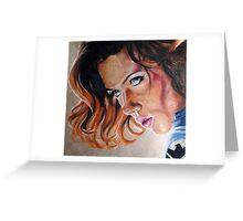 Black Widow Portrait Greeting Card