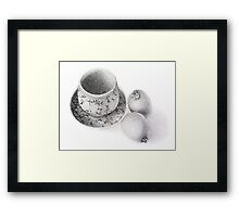 Korean Celadon With Kiwi Fruit Framed Print