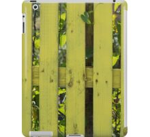 yellow fence in the house iPad Case/Skin