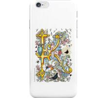 "The Illustrated Alphabet Capital  K  ""Getting personal"" iPhone Case/Skin"