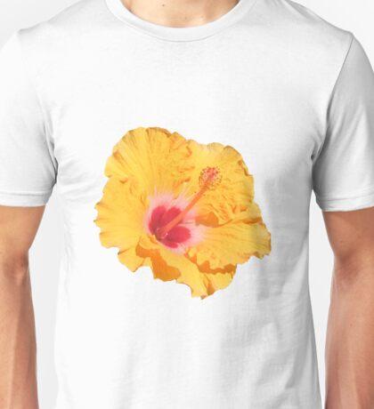 Orange Tropical Hisbiscus Flower Unisex T-Shirt