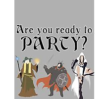 Are You Ready To Party? - Trine Photographic Print