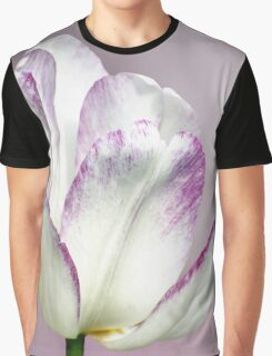 White Tulip Graphic T-Shirt
