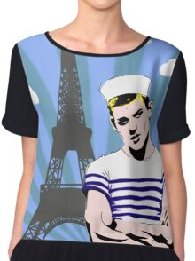 Paris Je T'aime Chiffon Top
