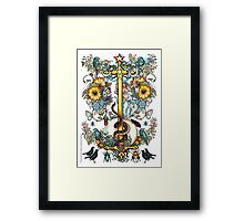 """The Illustrated Alphabet Capital  I  """"Getting personal"""" Framed Print"""