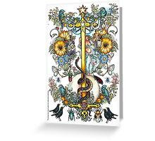 """The Illustrated Alphabet Capital  I  """"Getting personal"""" Greeting Card"""