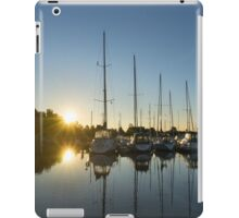 Rainbow Sunrays - Summer Sunrise With Yachts iPad Case/Skin
