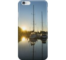 Rainbow Sunrays - Summer Sunrise With Yachts iPhone Case/Skin