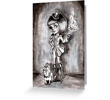 Miss Terri Riddles - Big eyed gothic investigateur extraordinaire!  Greeting Card