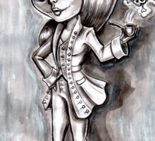 Miss Terri Riddles - Big eyed gothic investigateur extraordinaire!  Sticker
