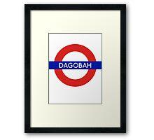 Fandom Tube- DAGOBAH Framed Print