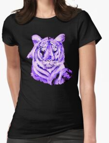 PURPLE TIGER LIGHT COLLECTION Womens Fitted T-Shirt