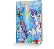 Diamonds on the Water Greeting Card