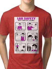 Lab Safety with Sherlock Holmes  Tri-blend T-Shirt