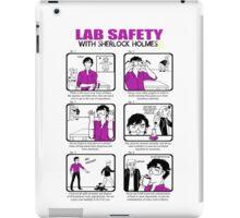 Lab Safety with Sherlock Holmes  iPad Case/Skin