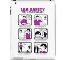Lab Safety with Sherlock Holmes  iPad Case/Skin