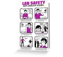 Lab Safety with Sherlock Holmes  Greeting Card