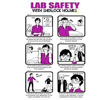 Lab Safety with Sherlock Holmes  Photographic Print