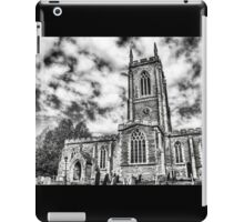 Orlingbury church (black and white) iPad Case/Skin