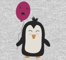 Penguin with balloon   Kids Tee