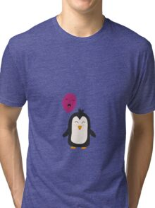 Penguin with balloon   Tri-blend T-Shirt